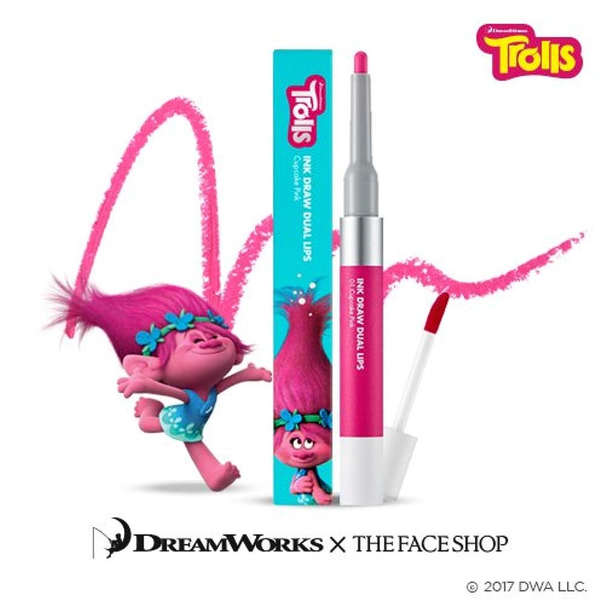 思春期サリー外交問題The Face Shop Ink Draw Dual Lip_Trolls Edition 01. Pink / ザ?フェイスショップ インクドローデュアルリップ_トロールエディション (01. Pink) [並行輸入品]