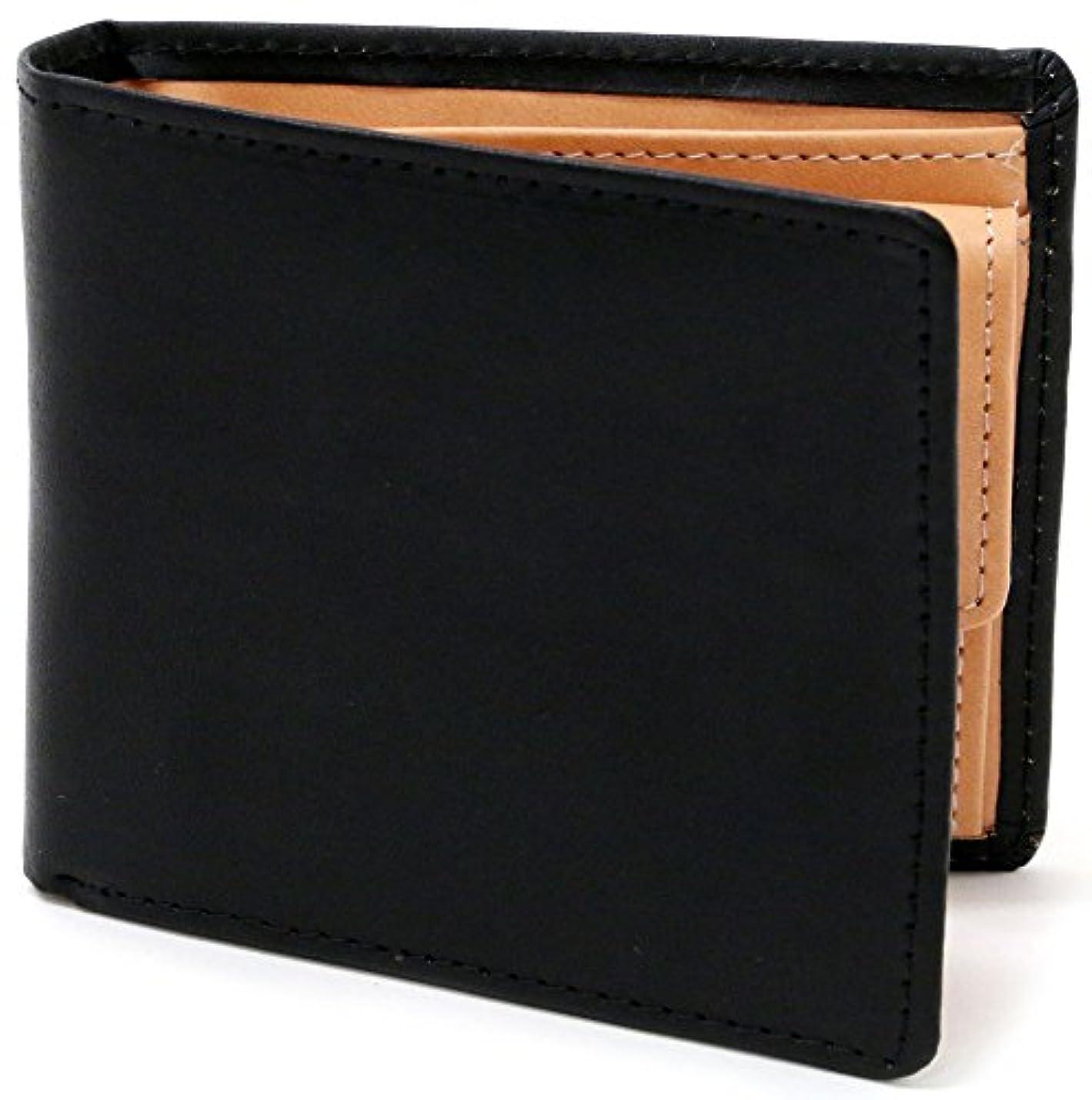 驚インストラクター資源[とちぎレザー] 財布 牛革 栃木レザー社製皮革使用 二つ折り財布 ぬめ革 メンズ
