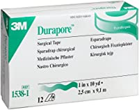Durapore Surgical Tape, 1 (Box of 12 Rolls) by 3M