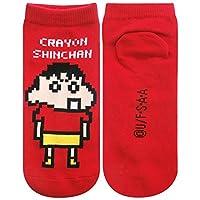 CRAYON STYLE クレヨンしんちゃん ソックス ビット しんちゃん レッド 22cm~24cm KYSOC482N