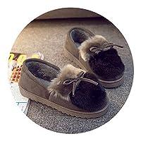 家族リビング可愛いスリッパ冬 大人 綿 靴レディースかわいいベルベット 暖かい家 室内親子靴おしゃれ 女の子 綿スリッパ すべらない,ダブルグレー2トーン,36の足