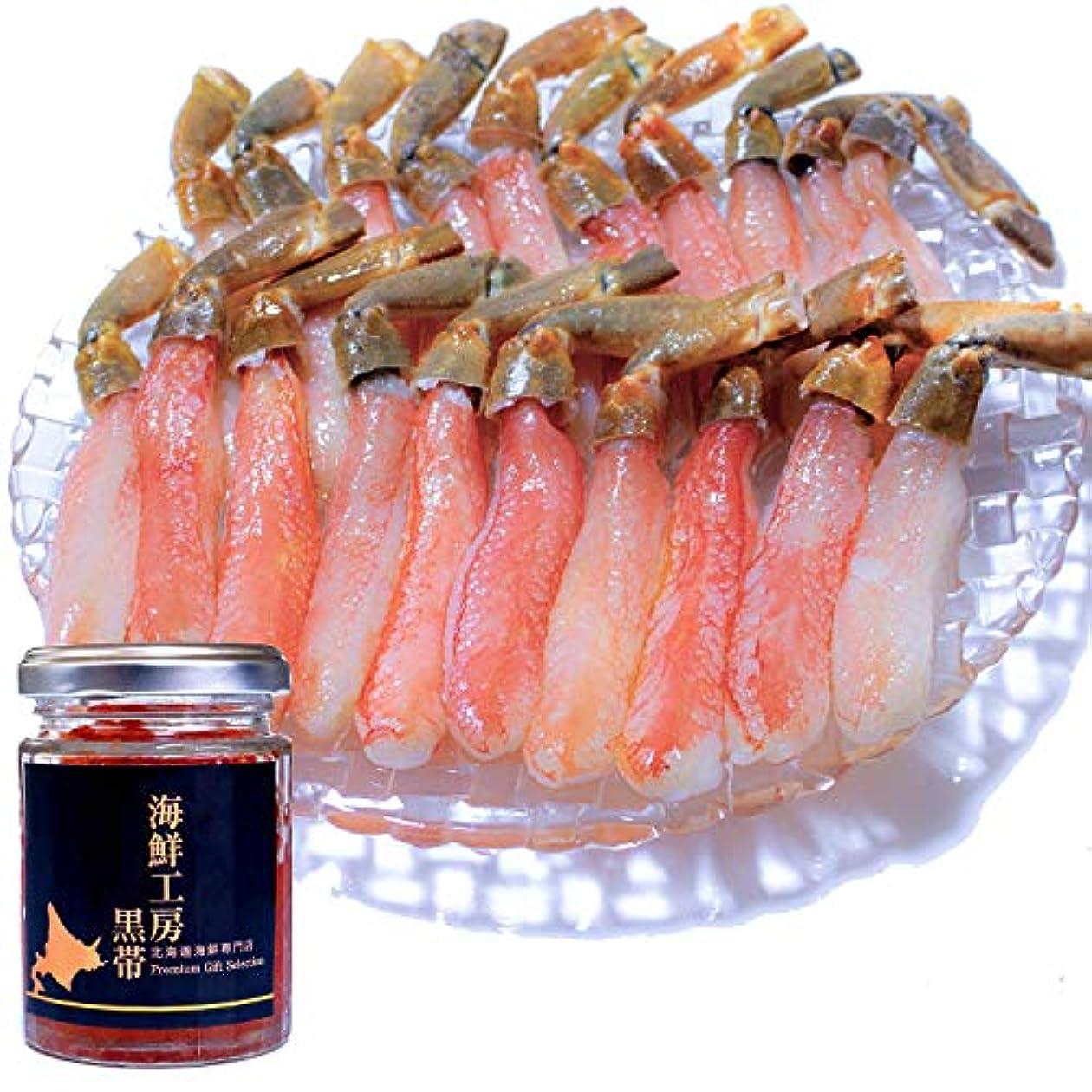 マカダム表現毎日黒帯 北海道 海鮮 詰め合わせ ギフトセット いくら醤油漬け 生ズワイガニ 棒肉 ポーション (いくら100g ポーション500g)