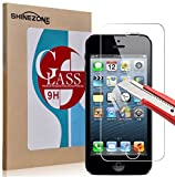 【ShineZone】iPhone SE 専用強化ガラスフィルム 日本製素材 国産ガラス採用 0.3mm 超薄型.表面硬度9H・ラウンド処理・飛散防止処理・ 高透過率 ・撥油性保護フィルム