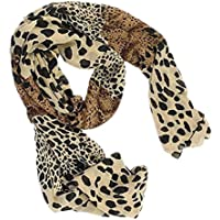 Bullidea Silk Scarf Women's Leopard Printing Decoration Chiffon Scarf Beach Ultra-thin Long Soft Wrap Scarf Shawl Scarf Scarves