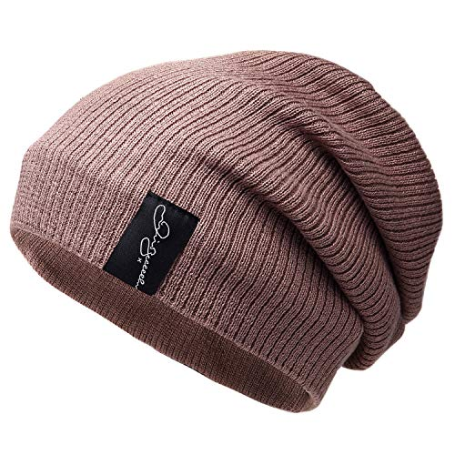 AmaFanshop サッカー選手着用 有名人使用 ニット帽 裏地 フリース 伸縮性 防寒 保温 スポーツ ランニング 使用可能 (ブラウン)