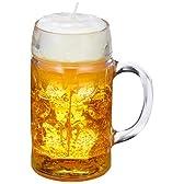 不二貿易 キャンドル ヘディケ ビール ジョッキ 型  大 90737
