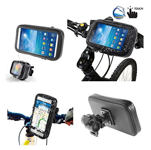 DFV mobile - Professional Support for Bicycle Handlebar and Rotatable Waterproof Motorcycle 360? for => VKWORLD VK560 > Black