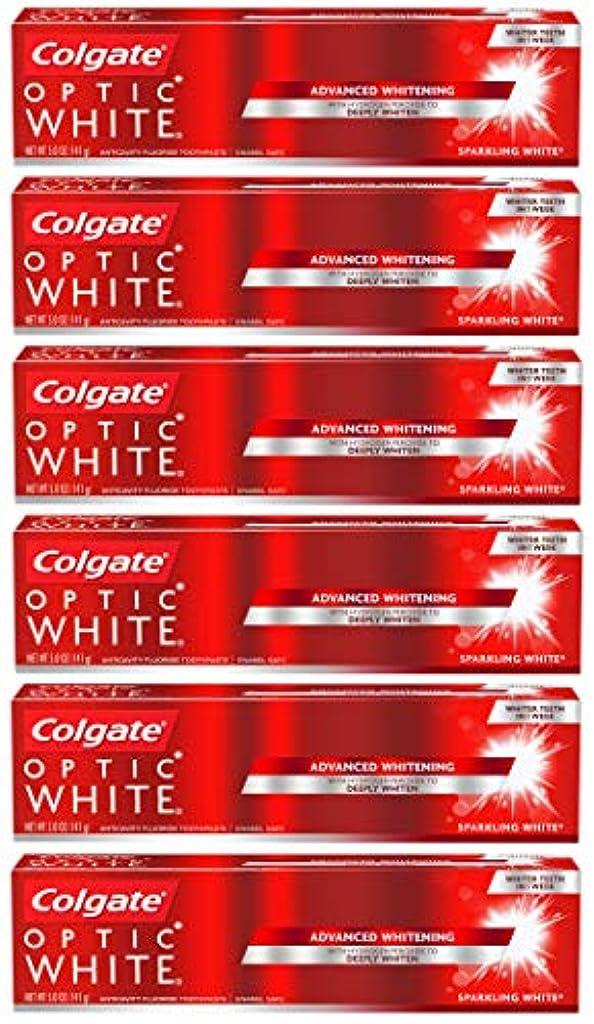 居心地の良い順番レパートリーColgate オプティックホワイトホワイトニングの歯磨き粉、スパークリングミント - 5オンス(6パック)