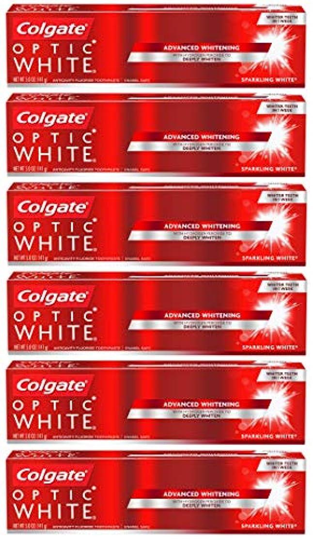 ポンドすすり泣き咳Colgate オプティックホワイトホワイトニングの歯磨き粉、スパークリングミント - 5オンス(6パック)