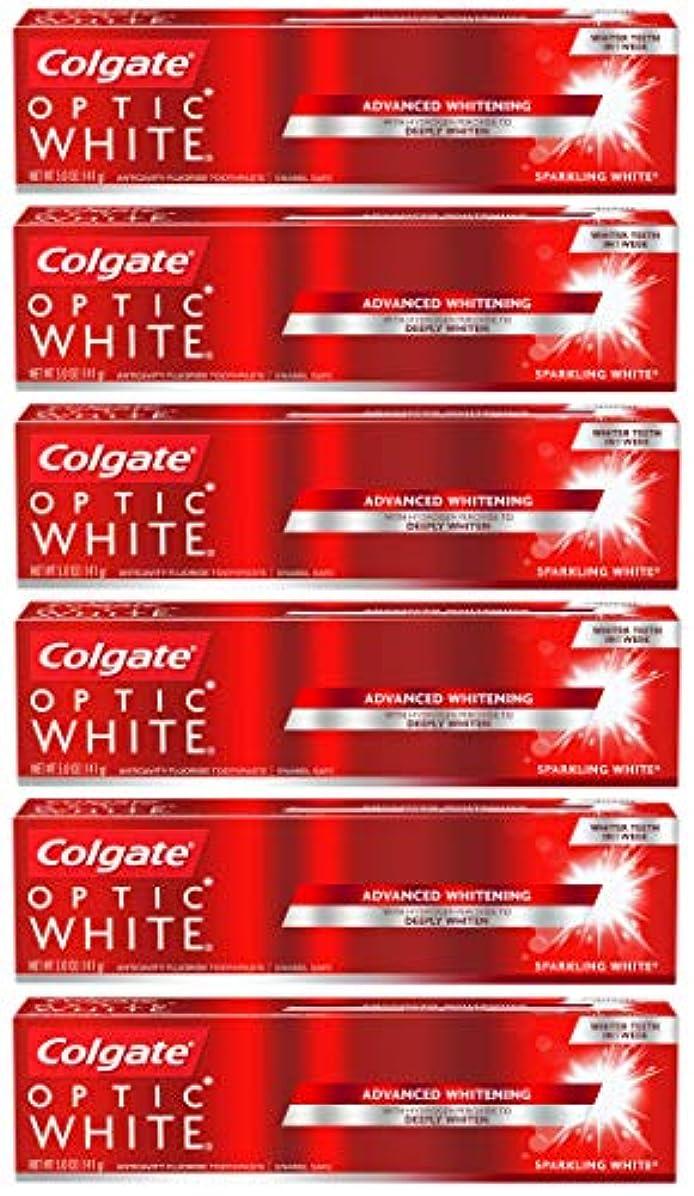 無法者分類水族館Colgate オプティックホワイトホワイトニングの歯磨き粉、スパークリングミント - 5オンス(6パック)