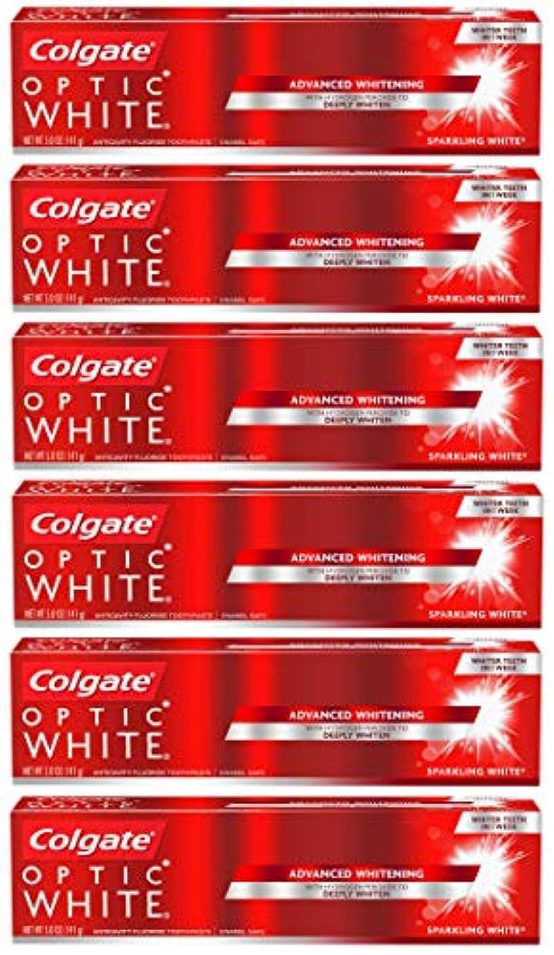 ツーリスト休日にゲームColgate オプティックホワイトホワイトニングの歯磨き粉、スパークリングミント - 5オンス(6パック)