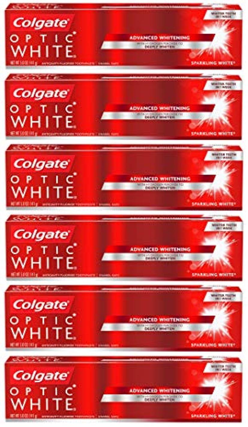 値するマーケティング代理人Colgate オプティックホワイトホワイトニングの歯磨き粉、スパークリングミント - 5オンス(6パック)