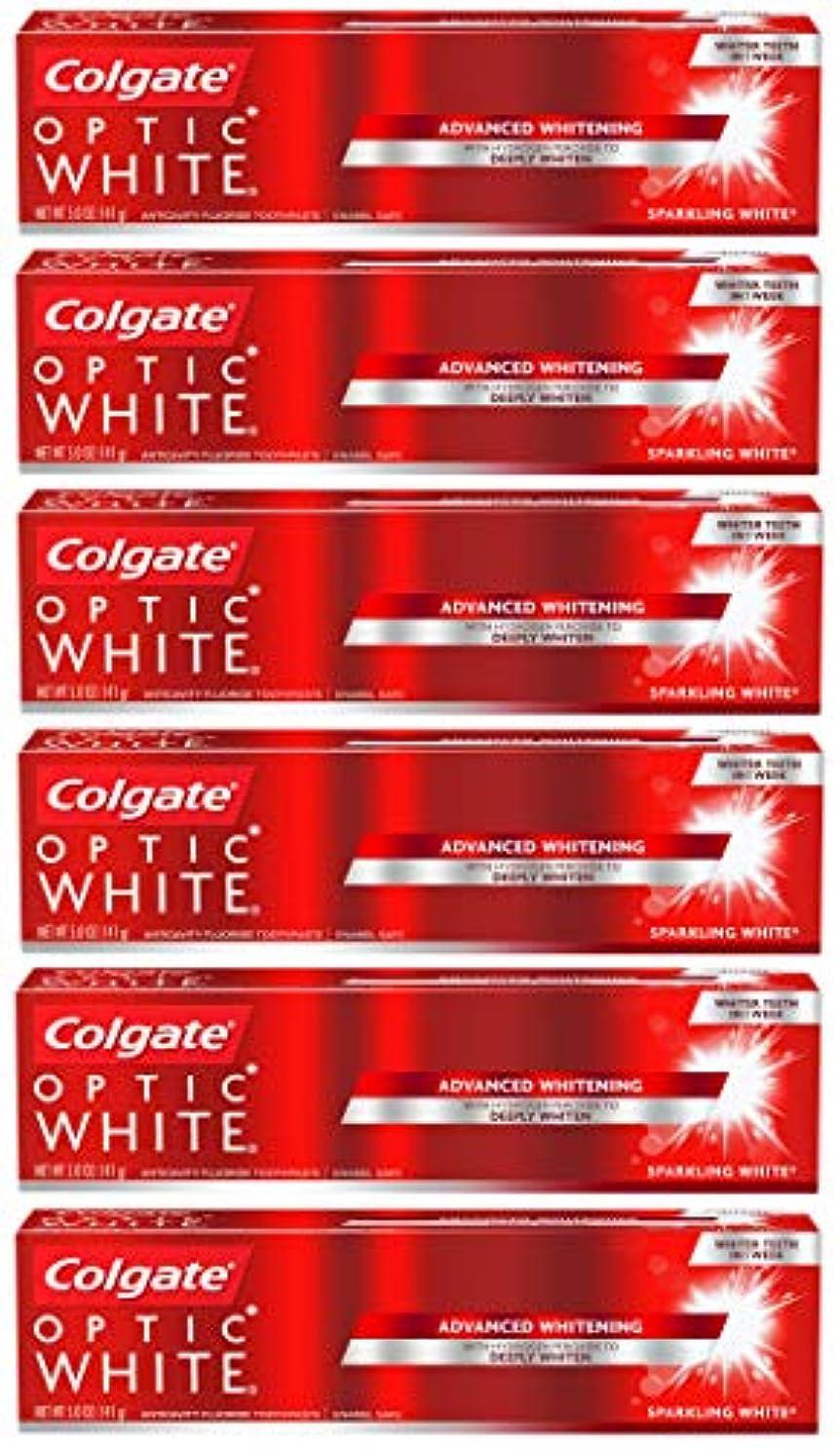 Colgate オプティックホワイトホワイトニングの歯磨き粉、スパークリングミント - 5オンス(6パック)