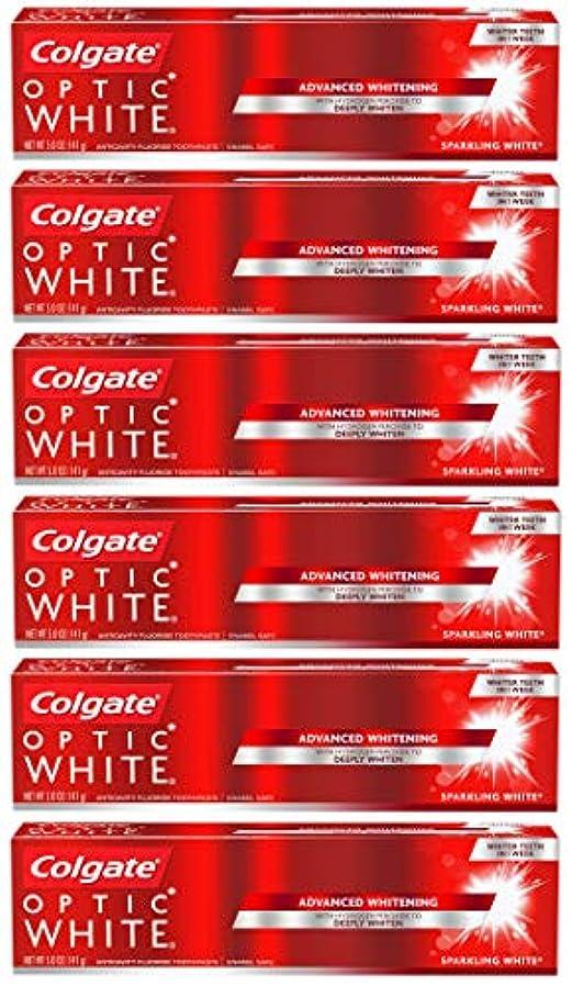 羨望精査する牧師Colgate オプティックホワイトホワイトニングの歯磨き粉、スパークリングミント - 5オンス(6パック)