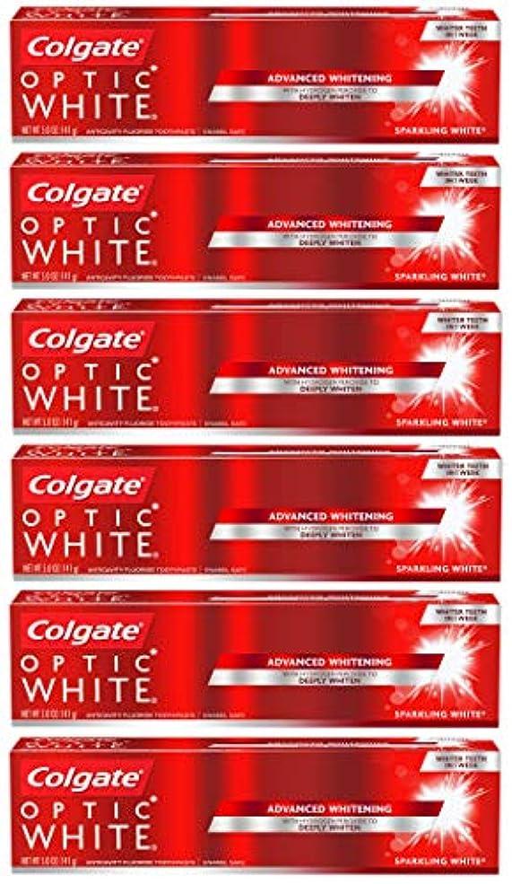 不規則な魅了するタオルColgate オプティックホワイトホワイトニングの歯磨き粉、スパークリングミント - 5オンス(6パック)