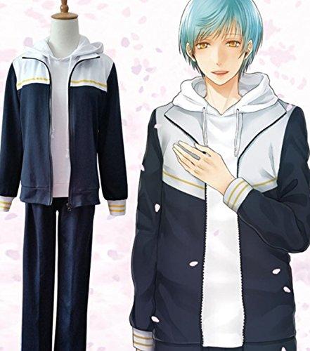 コスプレ衣装 Online ゲームキャラクター 一期一振 いちごひとふり 風 内番 服 上下2点セット コスチューム(女Large)