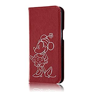 レイ・アウト Galaxy S7 edge ケース ディズニー 手帳型 ホットスタンプ ミニーマウス RT-DGS7EI/MN
