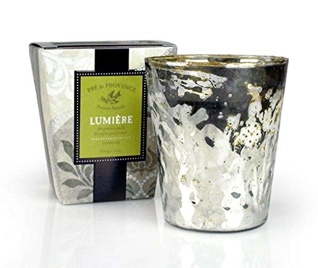 部門ラケット左PRE de PROVENCE ルミエール フレグラントキャンドル バーベナ VERBENA プレ ドゥ プロヴァンス Lumiere Fragrant Candle Collection