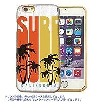 301-sanmaruichi- iPhone6s ケース iPhone6 ケース 天然木製 ウッド 木目 おしゃれ surf サーフ ハワイ hawaii B