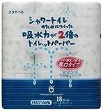 エリエール シャワートイレのためにつくった トイレットペーパー 吸水力が2倍 23m(100シート)×18ロール ダブル パルプ100%