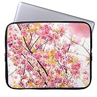 Recaso(レカソ)美しいピンクの日本のな桜おしゃれ 11.6/12インチ PCケース パソコンケース パソコンカバー ラップトップスリーブ ノートパソコン チェック