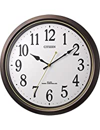 CITIZEN シチズン 掛け時計 電波時計 静音 プラスチック風防 ブラウン M517 8MY517-006