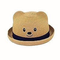 アダ二ナ)Adanina 子供用ハット 麦わら帽子 キッズ 子供用 旅行 ストロー