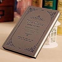 クリエイティブなシンプルな日記A5の目を肥厚させる学生ノートブックの文房具ハードコピービジネスメモ , lace coffee - size