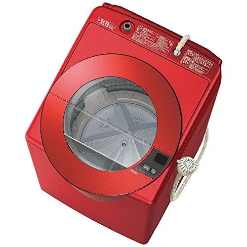 アクア 8.0kg 全自動洗濯機 シャイニーレッドAQUA S...