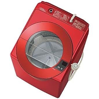アクア 8.0kg 全自動洗濯機 シャイニーレッドAQUA SLASH AQW-LV800E-R