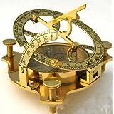 4インチ 真鍮製日時計コンパス