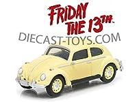GREENLIGHT-44690D FRIDAY THE 13TH PART III 1963 VW VOLKSWAGEN BEETLE 1/64 YELLOW [並行輸入品]