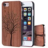 Imikoko iPhone7 ケース 木製 木柄 薄型 木目 和柄 iPhone木製 ケース ハードケース