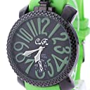 グリーン(C) トップリューズ式ビッグフェイス腕時計 ラバーベルト47mm GaGa MILANO ガガミラノ好きに