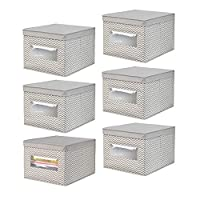 mDesign axisboxesstorage 6 pack 9082MDCO