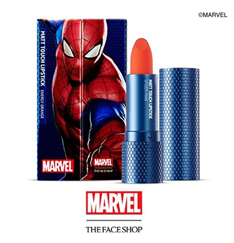 ブルーベル防衛ヒゲクジラTHE FACE SHOP マーベル限定版 マット タッチ リップスティック/MARVEL Edition Matt Touch Lipstictk (OR02) [並行輸入品]