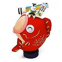 ちりめん 室内 鯉のぼり 和ぐるみ大笑い鯉置き飾り(吹き流し) ポストカード特典付オリジナル五月人形 こいのぼり 高さ18cm リュウコドウ