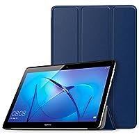 Huawei MediaPad T3 10.0 ケース - ATiC Huawei MediaPad T3 10.0タブレット専用開閉式三つ折り薄型スタンドケース INDIGO