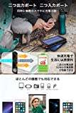【令和最新版&LEDライト付き】 24000mAh モバイルバッテリー ソーラーチャージャー ソーラー充電器 大容量 急速充電 QuickCharge 2USB出力ポート 太陽光で充電可能 防水 耐衝撃 地震/台風/災害/旅行/アウトドアに大活躍に iPhone/iPad/Android対応 PSE認証済 (オレンジ) 画像
