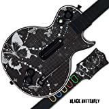 Mightyskins Protective Skin Decal Cover Sticker for GUITAR HERO 3 III PS3 Xbox 360 Les Paul - Black Butterfly by MightySkins