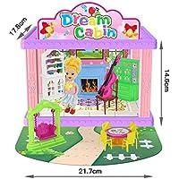 RaiFu ままごと おもちゃ 子供用品 DIY ドール ハウス 3D ドール ハウス おもちゃ モデル 誕生日 プレゼント 388-A1研究室