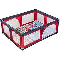 ボールマット、8パネルフェンス屋内屋外の少年少女の安全な遊び場のヤード折り畳み幼児のホームポータル (色 : Red)