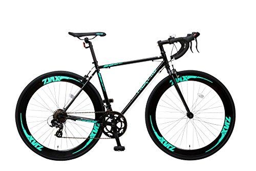 NEXTYLE(ネクスタイル) SHIMANO(シマノ) ロードバイク ロードレーサー 男女兼用(初心者対応 身長168cm以上 サイズ490mm)14段変速 ZNX-7014(ブラック)
