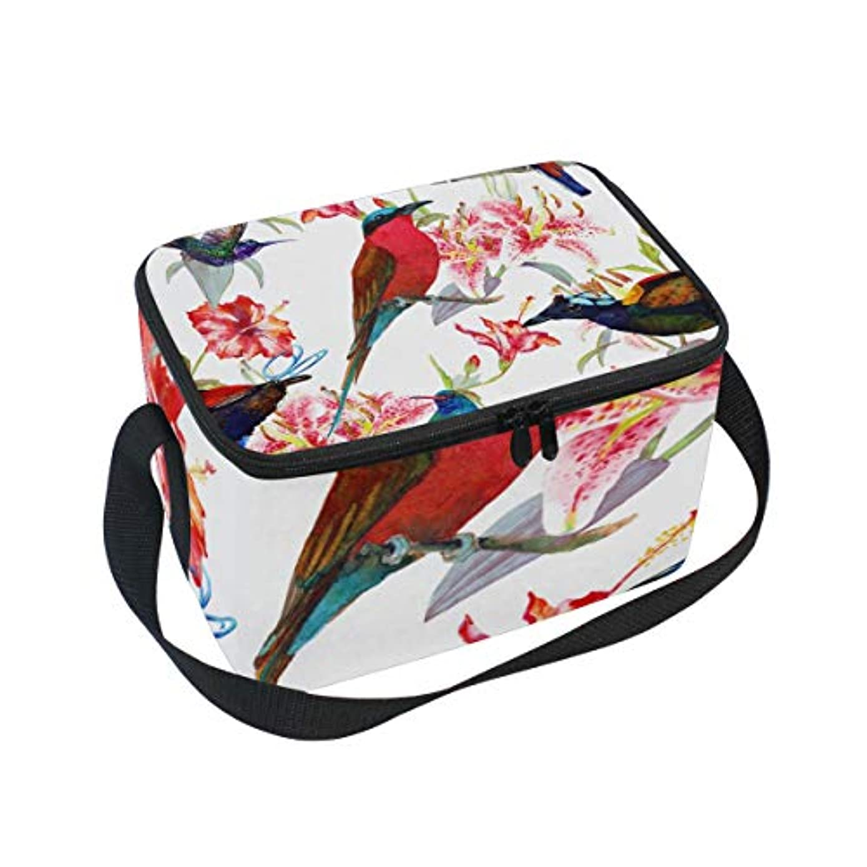 写真を撮るありがたい偶然クーラーバッグ クーラーボックス ソフトクーラ 冷蔵ボックス キャンプ用品 鳥と花柄 保冷保温 大容量 肩掛け お花見 アウトドア