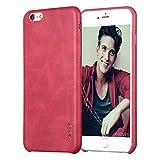 [X-Level] iphone6 iphone6s ケース レディース アイフォン6 アイフォン6s ケース カバー 蓋 レザー バックカバー 耐衝撃 レトロスタイル ビジネス風 大人 ファッション おしゃれ レッド