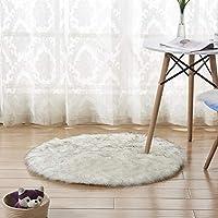 床の敷物をホーム, ふわふわマット, 豪華な固体しなやかな快適なベッドサイド マット カーペット リビング ルーム暖かい床敷物子供部屋ラグ シャギー マット-L 150x150cm(59x59inch)