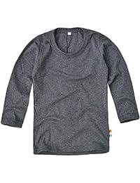 ロングTシャツ キッズ ジュニア用 長袖 ロンT 男の子 女の子 無地 ボーダー ソフトタッチ 吸汗 速乾性 伸縮性 白 黒