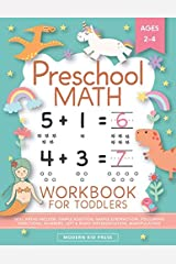 Preschool Math Workbook for Toddlers Ages 2-4 Paperback