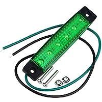 LED電球 3W 200〜300lmトラック用グリーンサイドフロントマーカーインジケータライトランプ6 LEDライトDC 24V 2PCS