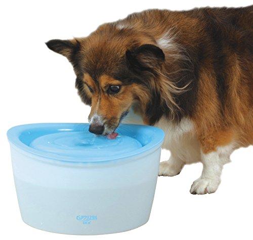 ジェックス ピュアクリスタル 多頭飼育・中型犬用 フィルター式自動給水器 循環式 4.8L